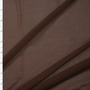 Chocolate Brown Designer Power Mesh Fabric By The Yard