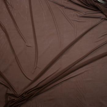 Chocolate Brown Designer Power Mesh Fabric By The Yard - Wide shot