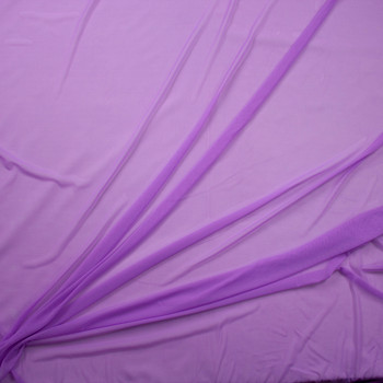 Lavender Designer Power Mesh Fabric By The Yard - Wide shot