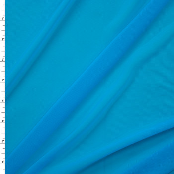 Turquoise Designer Power Mesh Fabric By The Yard