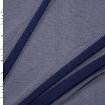 Navy Blue Designer Power Mesh Fabric By The Yard