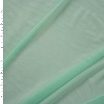 Mint Green Designer Power Mesh Fabric By The Yard