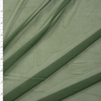 Olive Green Designer Power Mesh Fabric By The Yard