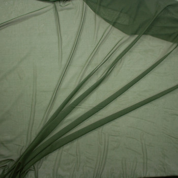 Olive Green Designer Power Mesh Fabric By The Yard - Wide shot