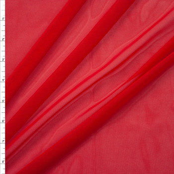Red Designer Power Mesh Fabric By The Yard