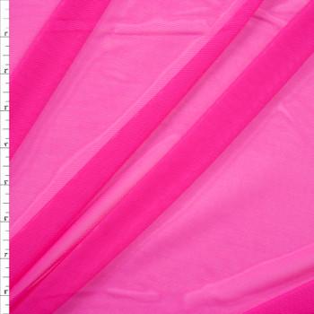 Neon Fuschia Designer Power Mesh Fabric By The Yard