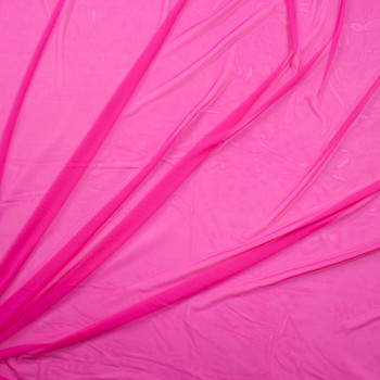Neon Fuschia Designer Power Mesh Fabric By The Yard - Wide shot