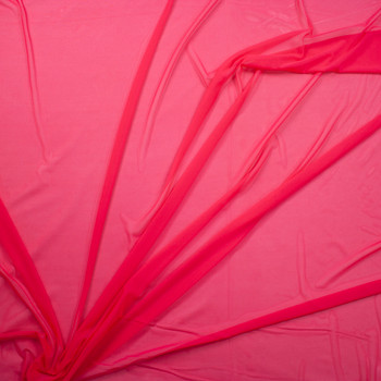 Hot Pink Designer Power Mesh Fabric By The Yard - Wide shot
