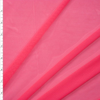 Neon Coral Designer Power Mesh Fabric By The Yard