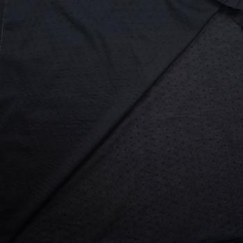 Black Swiss Dot Cotton Lawn Fabric By The Yard - Wide shot