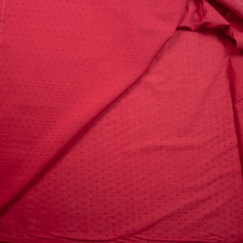 Red Swiss Dot Cotton Lawn Fabric By The Yard - Wide shot