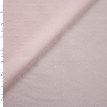 Blush Swiss Dot Cotton Lawn Fabric By The Yard
