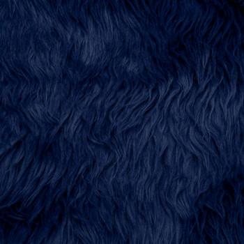 Navy Blue Shag Faux Fur