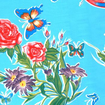 Mariposa Blue Oilcloth
