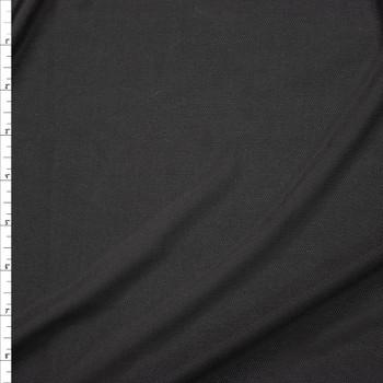 Black Moisture Wicking Designer Sports Mesh Fabric By The Yard