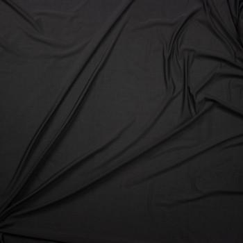 Black Moisture Wicking Designer Sports Mesh Fabric By The Yard - Wide shot