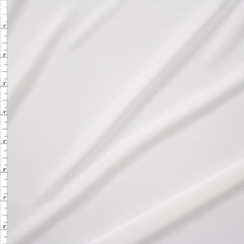 Warm White Moisture Wicking Designer Athletic Knit Fabric By The Yard