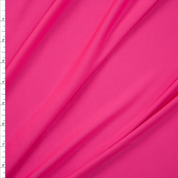 Bright Bubblegum Pink Moisture Wicking Designer Athletic Knit Fabric By The Yard