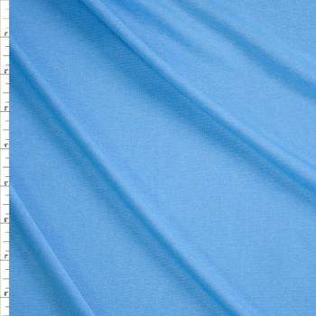 Sky Blue Heather Moisture Wicking Designer Athletic Knit Fabric By The Yard
