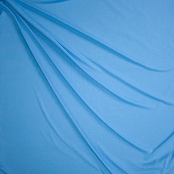 Sky Blue Heather Moisture Wicking Designer Athletic Knit Fabric By The Yard - Wide shot