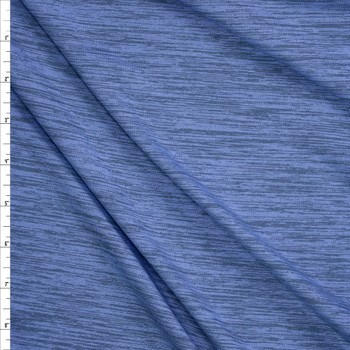 Periwinkle Grey Space Dye Moisture Wicking Designer Athletic Knit Fabric By The Yard