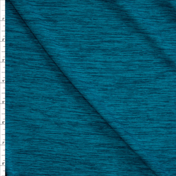 Lagoon Space Dye Moisture Wicking Designer Athletic Knit Fabric By The Yard