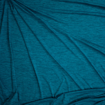 Lagoon Space Dye Moisture Wicking Designer Athletic Knit Fabric By The Yard - Wide shot