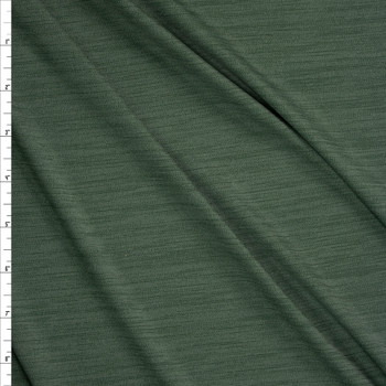 Olive Space Dye Moisture Wicking Designer Athletic Knit Fabric By The Yard