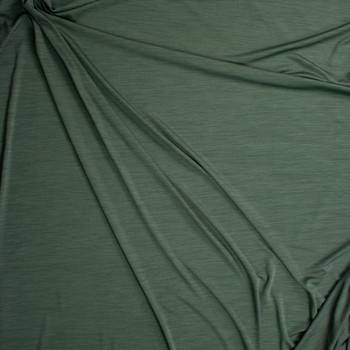 Olive Space Dye Moisture Wicking Designer Athletic Knit Fabric By The Yard - Wide shot