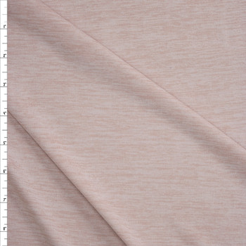 Cream Space Dye Moisture Wicking Designer Athletic Knit Fabric By The Yard
