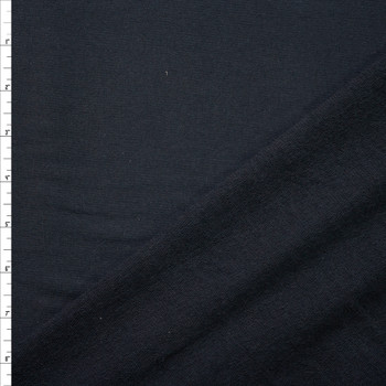 Black Designer Stretch Cotton French Terry from 'Betabrand' Fabric By The Yard