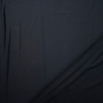 Black Designer Stretch Cotton French Terry from 'Betabrand' Fabric By The Yard - Wide shot