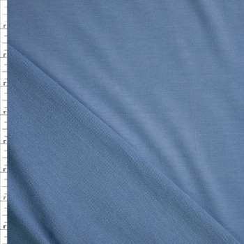 Sky Blue Solid Poly/Rayon French Terry Fabric By The Yard