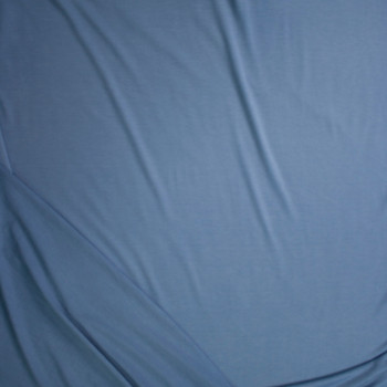 Sky Blue Solid Poly/Rayon French Terry Fabric By The Yard - Wide shot