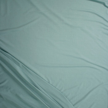 Soft Sage Green Solid Poly/Rayon French Terry Fabric By The Yard - Wide shot