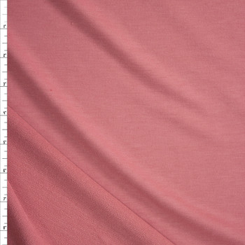 Pink Solid Poly/Rayon French Terry Fabric By The Yard