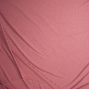 Pink Solid Poly/Rayon French Terry Fabric By The Yard - Wide shot