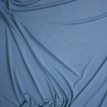 Light Blue Soft Designer French Terry Fabric By The Yard - Wide shot