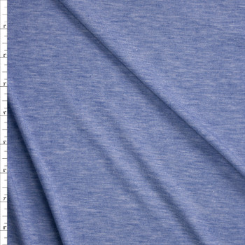 Light Blue Heather Light Midweight Jersey Knit Fabric By The Yard