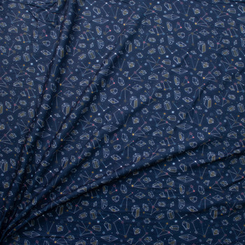 Constellations by Marketa Stengl Double Brushed Poly/Spandex Knit Fabric By The Yard - Wide shot