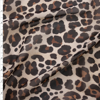 Leopard Print Designer Chiffon Fabric By The Yard
