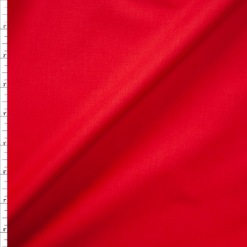 Red Designer Stretch Midweight Poplin Fabric By The Yard