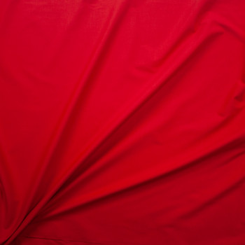 Red Designer Stretch Midweight Poplin Fabric By The Yard - Wide shot
