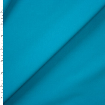 Turquoise Designer Stretch Midweight Poplin Fabric By The Yard