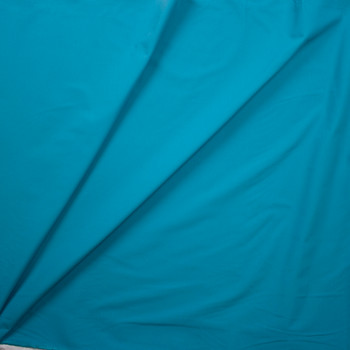 Turquoise Designer Stretch Midweight Poplin Fabric By The Yard - Wide shot