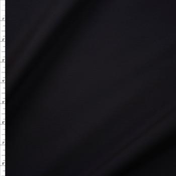 Black Designer Stretch Midweight Poplin Fabric By The Yard