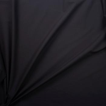 Black Designer Stretch Midweight Poplin Fabric By The Yard - Wide shot
