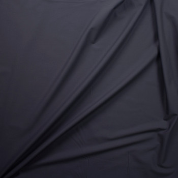 Charcoal Designer Stretch Midweight Poplin Fabric By The Yard - Wide shot