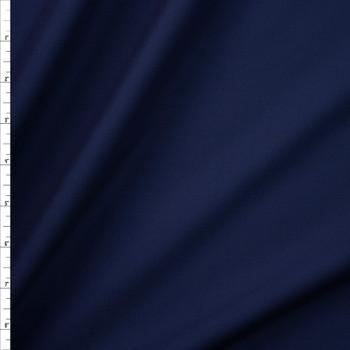 Navy Blue Designer Stretch Midweight Poplin Fabric By The Yard