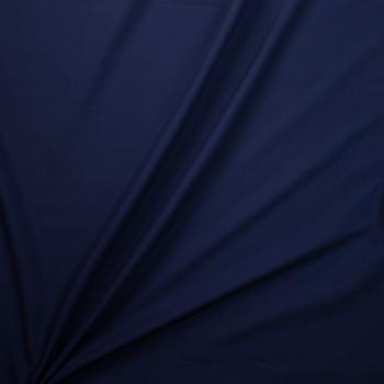 Navy Blue Designer Stretch Midweight Poplin Fabric By The Yard - Wide shot